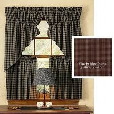 Primitive Kitchen Curtains Primitive Kitchen Curtains For A Rustic Look
