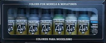 wwii raf day fighters model air paint set 8 colors hobby and