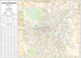 Nyc City Map Street Map City Of Jamestown New York