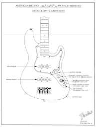 fender american deluxe jazz bass wiring diagram efcaviation com