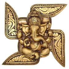 Swastik Decoration Pictures Lord Ganesha On Religious Symbol Swastik Buy Wall Decor Online