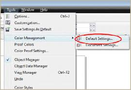 corel draw x6 has switched to viewer mode color management settings coreldraw x5 x6 x7