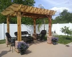 pergola ideas deck furniture sweet dark wood pergola roof gray