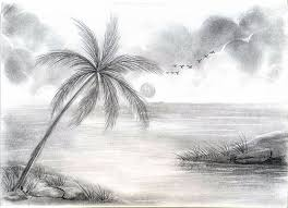 beautiful scenery sketches pencil drawing academy of music and art