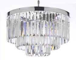 retro chandeliers odeon empress crystal tm glass fringe 3 tier chandelier