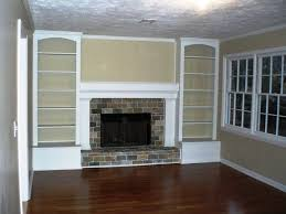 Builtin Bookshelves by Originally A Full Brick Wall With The Tiny Fireplace In The Middle
