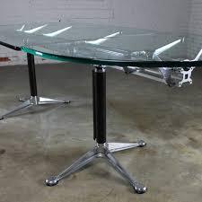 Miller Table Sold U2013 Vintage Herman Miller Glass U0026 Aluminum Beam Table Or Desk