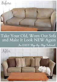 Couch And Sofa by Take That Old Worn Out Sofa U0026 Make It Look New Again An Easy