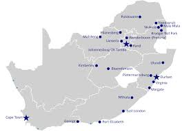 Map South Africa Airports In South Africa Airport Spotting Blog