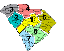 south carolina school districts map map