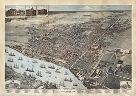 Savannah Ga Map A Savannah Rarity Rare U0026 Antique Maps