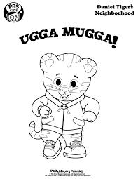 ugga mugga daniel tiger coloring page wqed pbskids daniel