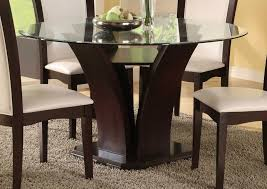 Glass Dining Table For 8 by Round Glass Dining Table Wood Base 58 With Round Glass Dining