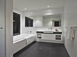 creating a designer bathroom on a limited budget interior design modern master bathroom in classic white with contrasted grey tiled floor