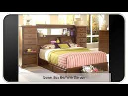 queen size bed with storage youtube