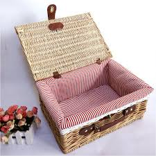 wine picnic basket outdoor picnic basket high quality wicker basket portable storage