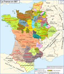 Burgundy France Map by Map Of France In Year 987 France Pinterest