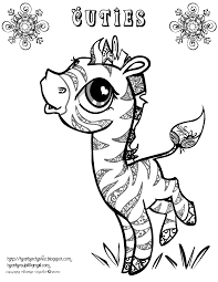 creative cuties free zeabra coloring page coloring book pages