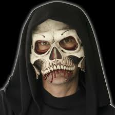 hooded cranium half skull mask mostlydead com