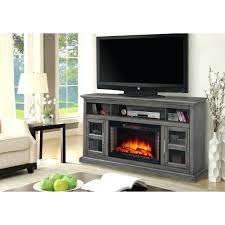 tv stand with built in speakers and fireplace antique white