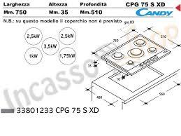 dimensioni piano cottura 5 fuochi piano cottura cm 75 cpg75sxd 5 fuochi tripla griglia in