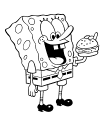 dancing sponge bob coloring pages for kids printable free