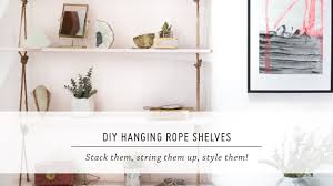 hanging bookshelf diy hanging shelves furniture u0026 interior design tutorial