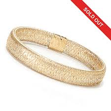 gold omega bracelet images Stefano oro 14k gold 6 25 quot omega stretch bangle bracelet 3 08