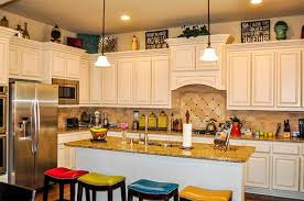 classic decor for top of kitchen cabinets at cabinet style study