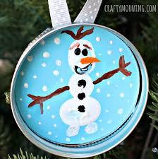 fingerprint frozen olaf ornament crafty morning