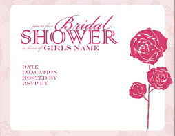 bridal shower invitation template free wedding shower invitations template best template collection