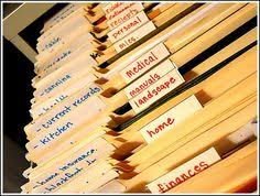 how to organize a file cabinet system a simple way to file papers at home i love this filing system