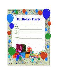 simple birthday invitation templates free printable surprise