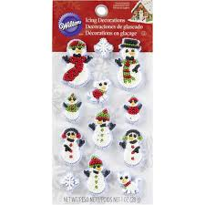 wilton snowman family icing decorations wilton