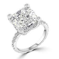 cz engagement ring ct cushion cut brilliant cz engagement ring