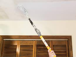 Painting Over Popcorn Ceiling by How To Remove A Popcorn Ceiling How Tos Diy