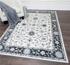 Black Grey And White Area Rugs Three Posts Hawley Grey White Area Rug Reviews Wayfair