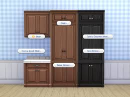how to make a corner kitchen cabinet sims 4 mod the sims scargeaux cupboard and fridge