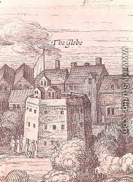the globe theatre detail from an engraving 1616 by cornelius de