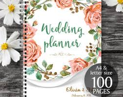 planner wedding wedding binder wedding book pink floral wedding planner