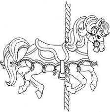 an assortment of free carousel horse printables carousel first