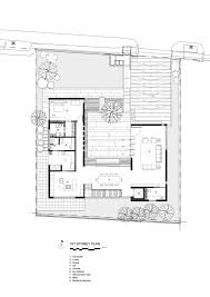 plan of the courtyard house ar43 architects courtyard house in a