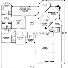 House Plans With Three Car Garage Southern Style House Plan 3 Beds 3 50 Baths 2461 Sq Ft Plan 56 241