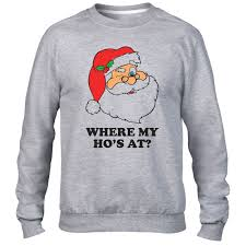 christmas jumper where my hos at sweater santa claus christmas jumper