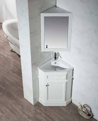 stufurhome hampton white 27 inch corner bathroom vanity with