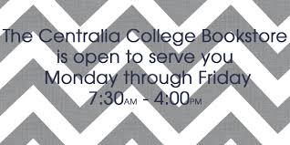 hours welcome centralia college bookstore