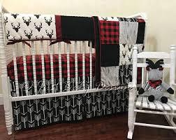 plaid crib bedding etsy