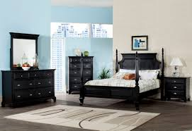 4 Poster Bedroom Set Bedroom Trendy Pc Poster Bedroom Set In Black Bed Nightstand