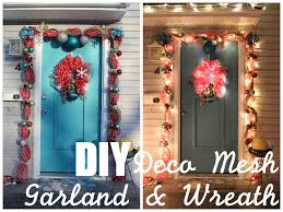 lola tangled how to make your own deco mesh door garland and
