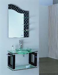 glass bathroom vanities